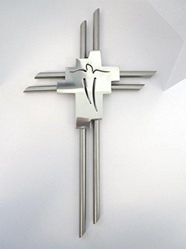 Wandkreuz Jesuskreuz Edelstahl