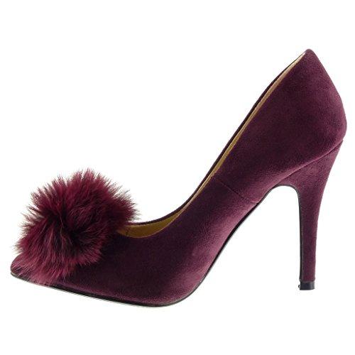 343b5ee86 pom Femme Pom Stiletto Escarpin Haut Cm Decolleté Mode Chaussure ...