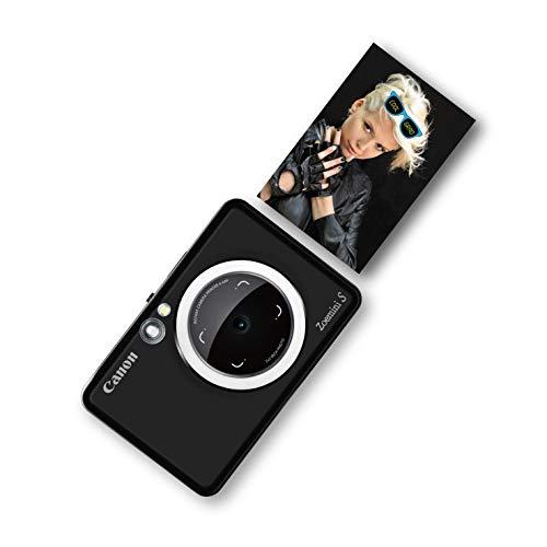 Canon Zoemini S digitale 8 MP Sofortbildkamera und Mini-Fotodrucker (Sucher, Ringblitz/ LED-Blitz, Micro-SD Kartenslot, Canon Mini Print App, ZINK-Druck tintenfrei), matte black