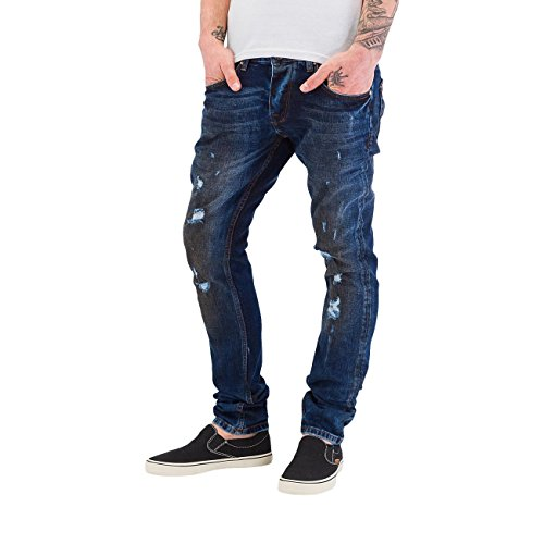 Bangastic Homme Jeans / Jeans Straight Fit Dirty Bleu