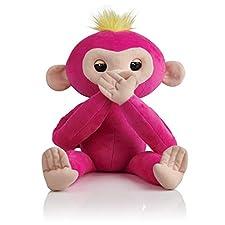 Fingerlings HUGS - BELLA - Friendly Interactive Plush Monkey Toy - by WowWee