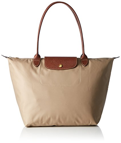 Longchamp Damen Le Pliage Large Tote Bag Beige, 19x30x31 cm