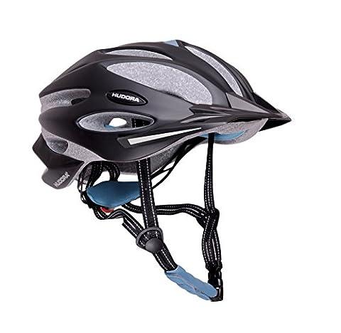 HUDORA Fahrradhelm Granit Damen Herren, Fahrrad-Helm Rad-Helm Gr. 55-58, schwarz/blau