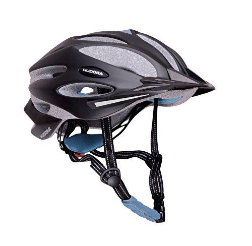 HUDORA Fahrradhelm Granit Damen Herren, Fahrrad-Helm Rad-Helm Gr. 59-61, schwarz/blau