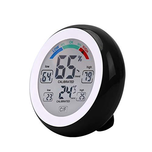 Ysoom Thermometer Hygrometer, Innen Außen Thermometer Digital Temperatur und Luftfeuchtigkeit Monitor, Thermo Hygrometer mit Touchscreen, Großem LCD Display, ℃/℉ Schalter, Ideal für Büro,etc -