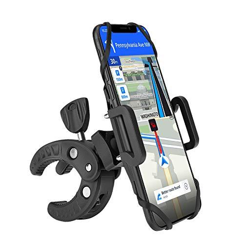 Eletorot Handyhalterung Fahrrad, 360° Drehbarer Universal Motorrad Handyhalter für iPhone, Galaxy, Huawei und alle 4,3-6,5 Zoll Smartphone, Schwarz -