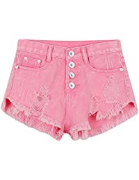Etosell Femmes Retro Sexy De Taille Haute Jeans Shorts
