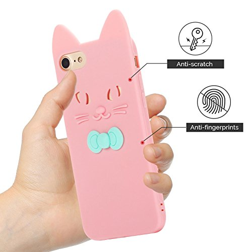 Cover iPhone 7 Case iPhone 8 Custodia Spiritsun Soft TPU Candy Handy Case Cover 3D Cartoon Case Elegante Flexible Morbida Ultra Silicone Ultra Sottile Case Phone Cover Case Per iPhone 7/8 (4.7 Pollici Rosa