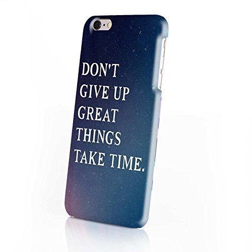 FINOO ®   Handyhülle Komplettdruck Hardcase Hart Schale cover Case Schutzhülle für Iphone 6/6S Plus Löwe gemalt Don't give up