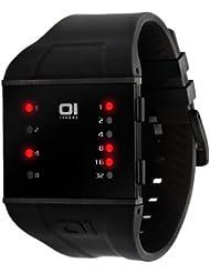 """Binary THE ONE """"Slim"""" SLS202R3 - Reloj de caballero de cuarzo, correa de plástico color negro"""