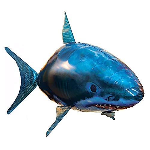 (Gaddrt Fernbedienung Spielzeug Air Flying RC Fernbedienung Flying Shark Toy Kinder Aufblasbare Geschenk Weihnachten (Blau))