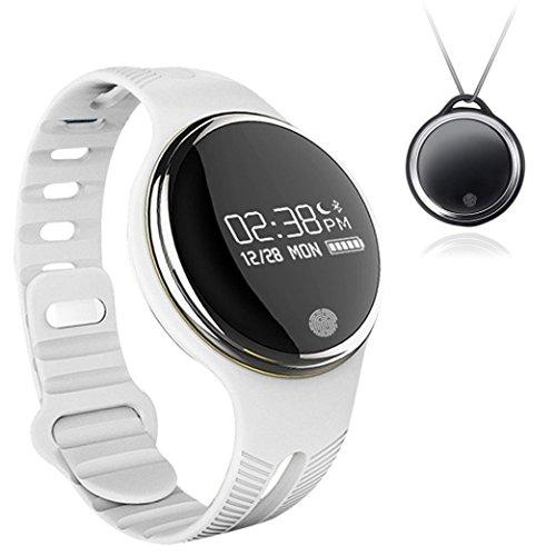 Bluetooth Armband Smart Band, E07Wasserdicht Smart Watch Gesunden Schrittzähler Schlaf Monitor Sport Armbanduhr-Fitness Tracker für Android iOS Smartphone, weiß (Bluetooth-anhänger-lichter)