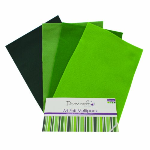 dovecraft-a4-felt-multiple-pack-green