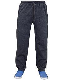 New Unisex Mens Plain Fleece Joggers Tracksuit Bottoms Jogging Pants Cuffed Hem