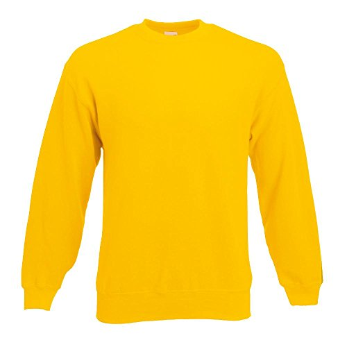 Fruit of the Loom - Sweatshirt 'Set-In' L,Sunflower