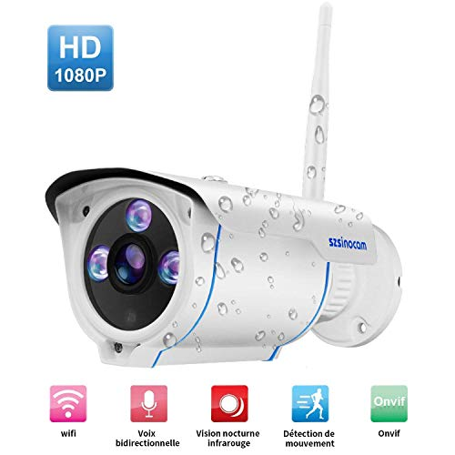 [Updated Version]1080P Outdoor Security Camera,IP66 Waterproof WiFi Bullet  Camera, Wireless IP Camera With 25m Night Vision,Remote Viewing, Motion
