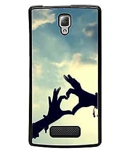 PrintVisa Designer Back Case Cover for Lenovo A2010 (heart in the air freedom)