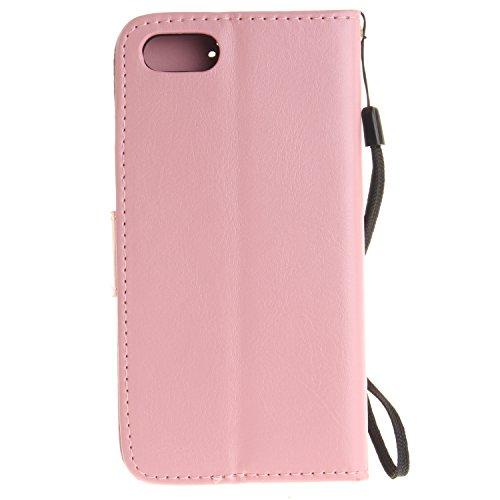 TIODIO® Housse en cuir Pour Apple iphone 7 PU étui en cuir / case/ coque/ cover/ housse avec la fonction de stand+1 x Stylet+1 x film de protection d'écran, A10 A03