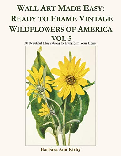 Columbine Kostüm - Wall Art Made Easy: Ready to Frame Vintage Wildflowers of America Vol 5: 30 Beautiful Illustrations to Transform Your Home
