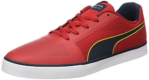 Puma Unisex-Erwachsene RBR Wings Vulc Low-Top, Rot (Chinese red-total Eclipse White 02), 43 EU