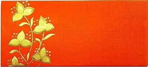 Jain's Shagun Envelope   Wedding Envelope   Money Cover   Gift Envelope (Red and Golden) - (Pack of 25)