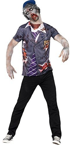 Herren Zombie Boarding School Boy Uniform College Uniform Halloween Fancy Kleid Kostüm (College Für Halloween Kostüme)