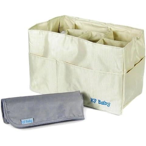 KF Baby–Organizador de pañales (12x 6,4x 8pulgadas) + Pañales Cambiador Value Combo