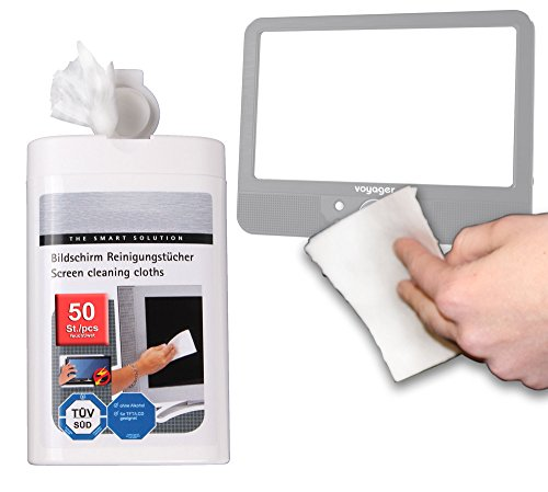 DURAGADGET Anti-Static LCD Cleaning Cloths Suitable for Use with Voyager 9 inch In Car Portable DVD Player amp; Zennox Deluxe 9 inch 12v Portable LCD TV DVD Combi Player