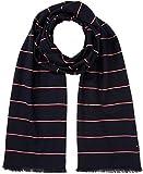 Tommy Hilfiger Herren Schal Corporate Stripe Scarf, Blau (Tommy Navy 413), One Size (Herstellergröße: OS)