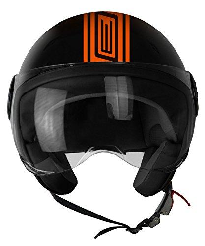 Origine Helmets 201585025300104Neon Street casco Demi Jet, Naranja,