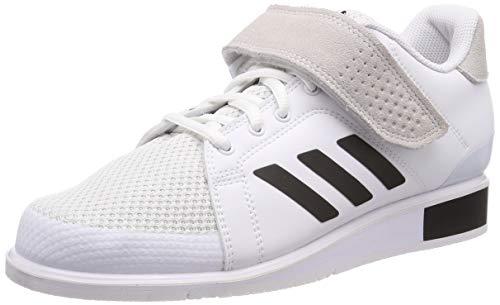 adidas Herren Power Perfect 3 Fitnessschuhe, Weiß (Ftwbla/Negbás/Ftwbla 000), 45 1/3 EU
