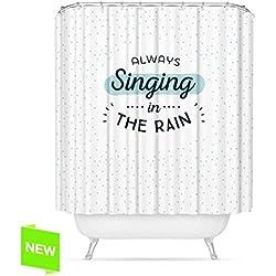 Cortina para la ducha personalizada con mensaje optimista.