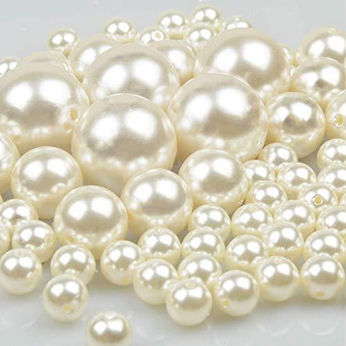 n lose Perlen für armbänder 70 Stück poliert Perlen für Christmas decoration/Vase Füllstoffe/DIY Schmuck Halsketten/Kleidung Dekoration/Hochzeit/Geburtstag Party(Elfenbein) ()