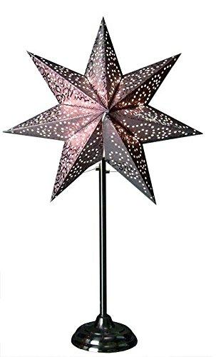 Supporto a forma di stella, antico, Dimensioni: 55 cm x 34 cm, colore: argento