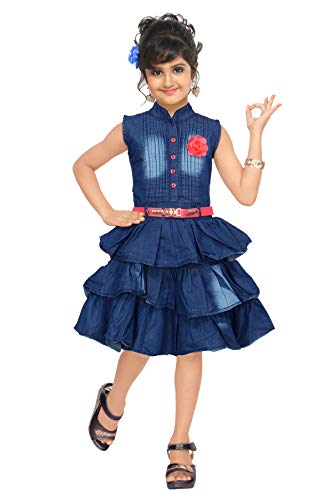 4 YOU Girls' Knee Length Dress.