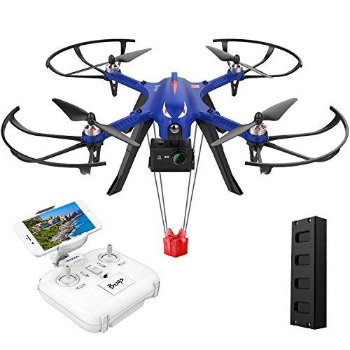 DROCON Bugs 3 Drohne mit bürstenlosem Motor Quadrocopter für Anfänger, lange Flugzeit und große Reichweite, 3D ROLLEN & SALTOS, unterstützt GoPro HD Kamera, Blau