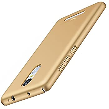 spL Full Body Protective Hard Back Cover for Xiaomi Redmi Note 3 -Golden