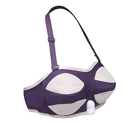 G&M Brust Vakuumpumpen Brust vibrierende Massage tragbare natürliche lila Vibrator , s