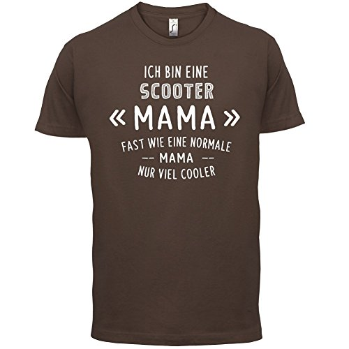 Ich bin eine Scooter Mama - Herren T-Shirt - 13 Farben Schokobraun