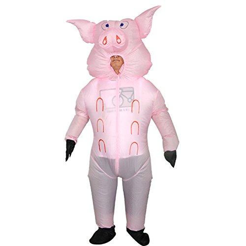Triseaman Unisex Adult Halloween Aufblasbare Anzug Lustige Fantasie Blow Up Kostüm Cosplay (Schwein Kleinkind Kostüm)