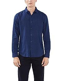 Esprit Mit Struktur - T-shirt à manches longues - Col ras du cou - Manches longues - Homme
