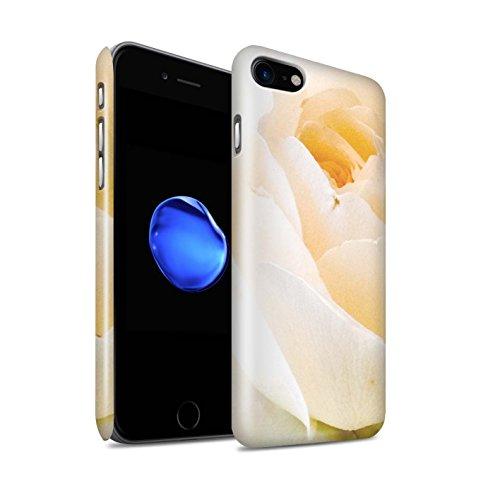 STUFF4 Glanz Snap-On Hülle / Case für Apple iPhone X/10 / Rosa Rose Muster / Blumengarten Blumen Kollektion Zarte Rose