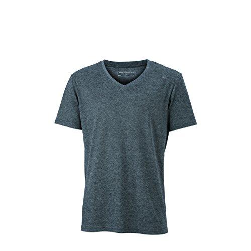 JAMES & NICHOLSON Herren T-Shirt, Einfarbig Schwarz