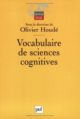 Vocabulaire de sciences cognitives par Collectif