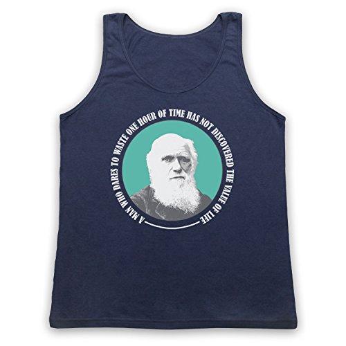 Charles Darwin Value Of Life Tank-Top Weste Ultramarinblau