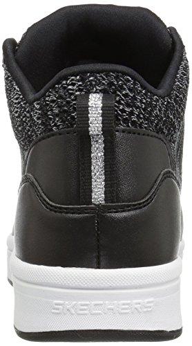 Skechers Women's Downtown-Fly High Fashion Sneaker Black