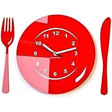 Gallery of flexistyle horloge murale moderne pour cuisine x cm rouge with horloge murale pour - Horloge de cuisine rouge ...