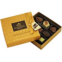 Godiva, Gold Discovery bombones pralines surtidos caja regalo 9 piezas, 90g