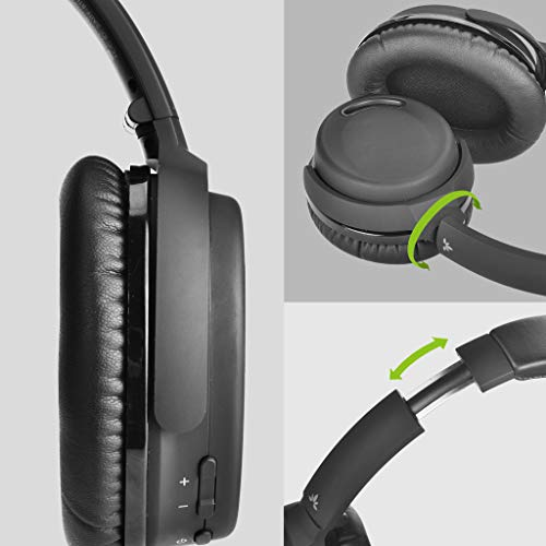 Avantree ANC032 Bluetooth 4.1 Active Noise Cancelling Kopfhörer mit Mikrofon, Wireless Wired Superleicht Komfortabel Klappbar Stereo ANC Over Ear Headset für Handys PC TV - 6