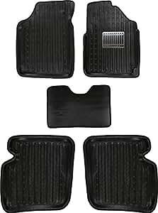 Hi Art All Weather Tray Car Mats for Hyundai Grand i10 Automatic [Black] - Set of 5